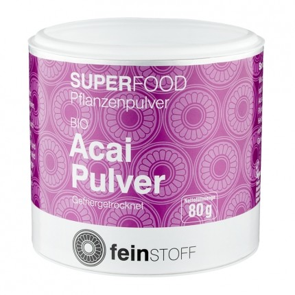 Feinstoff Superfood Acai, Bio-Pulver