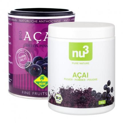 Fine Fruits Club, Açaï bio + nu3 Açaï bio, poudre
