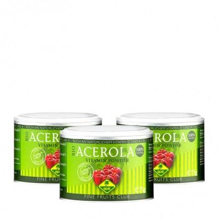 3 x Fine Fruits Acerola Bio Pulver