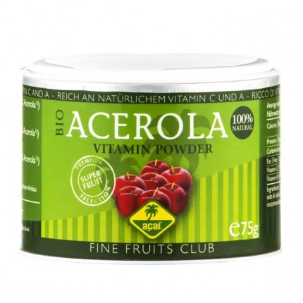 fine fruits acerola bio pulver acerola 75 g bei nu3. Black Bedroom Furniture Sets. Home Design Ideas