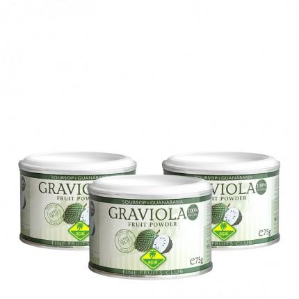 Graviola, Pulver (3 x 75 g)