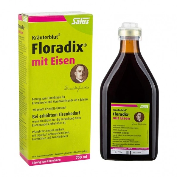 Floradix With Iron Tonic Made From Natural Ingredients