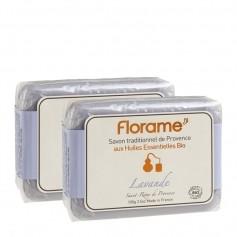 Florame, Savon traditionnel de Provence bio, lavande, lot de 2