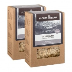 2 x Flores Farm Premium Bio Zedernüsse