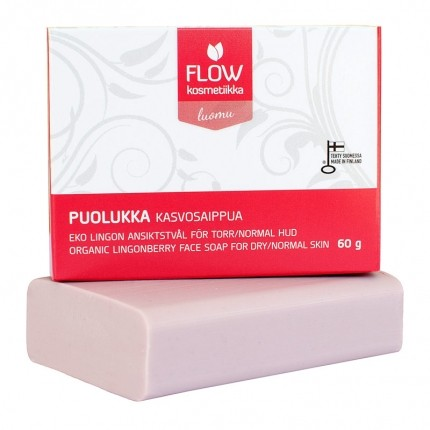 FLOW Puolukka -kasvosaippua