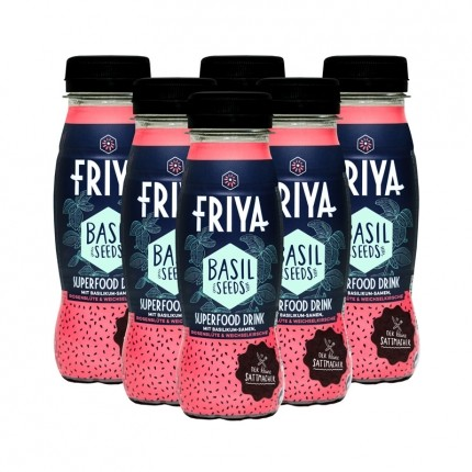 Friya 6 x Superfood-Drink mit Basilikumsamen