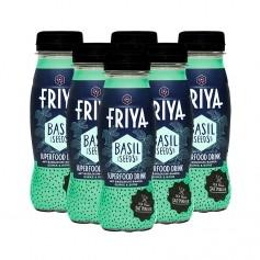 Friya Superfood Drink mit Basilikumsamen, Gurke-Birne