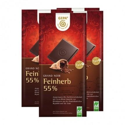 5 x Gepa Grand Noir Feinherb 55% Bio Schokolade