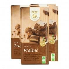 5 x Gepa Bio Praliné Vollmilchschokolade