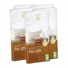 5 x Gepa Bio Vollmilchschokolade Pur 37%