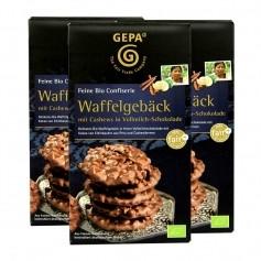 3 x Gepa Bio Waffelgebäck in Vollmilchschokolade