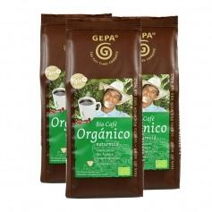 3 x Gepa Bio Café Orgánico gemahlen, Pulver