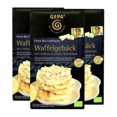 3 x Gepa Bio Waffelgebäck in weißer Jogurt-Schokolade