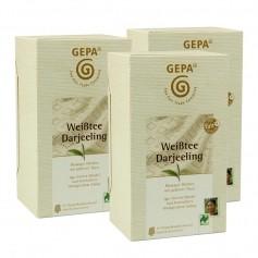 3 x Gepa Weißtee Darjeeling, Teebeutel