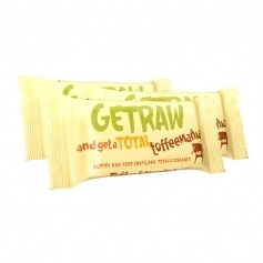 3x Get Raw Bar Toffee & Hazelnut, ekologisk
