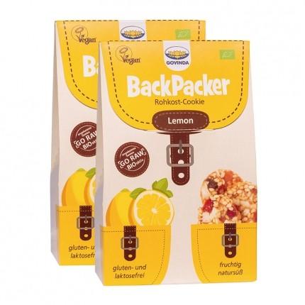 Govinda Bio Backpacker Rohkost-Kekse, Lemon