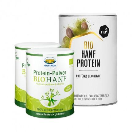 2 x Govinda Bio-Hanf Proteinpulver + nu3 Bio Hanfprotein
