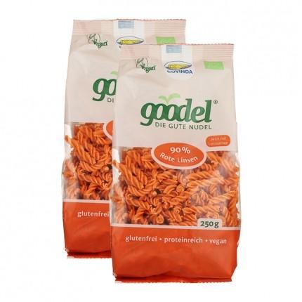 Rote Linsen Nudeln von Goodel