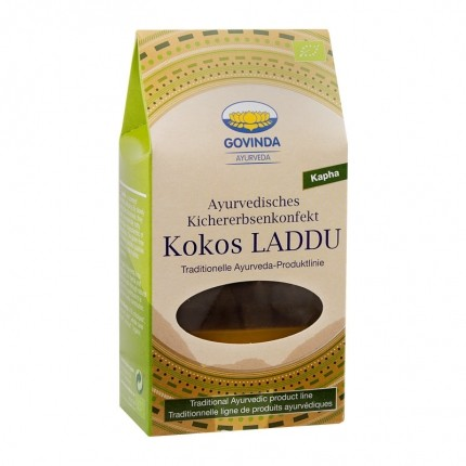 Govinda Kokos Laddu Ayurvedisches Kichererbsenkonfekt