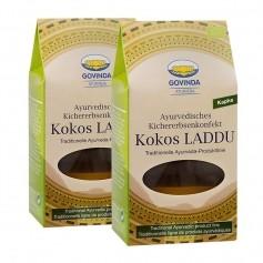 Govinda Kokos Laddu Ayurvedisches Kichererbsenkonfekt Doppelpack