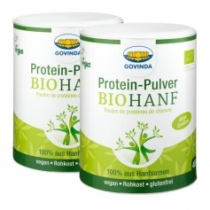 2 x Govinda Bio-Hanf Proteinpulver
