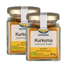 2 x Govinda Bio Kurkuma (Tumeric), gemahlen