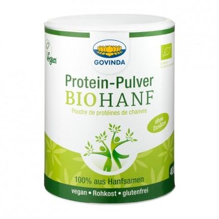 2 x Govinda økologisk hamp proteinpulver + økologisk rå-kakaopulver