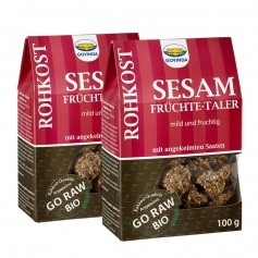 2 x Govinda Økologisk Sesam-Frukt-Kjeks