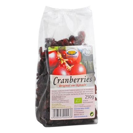 Govinda Organic Dried Cranberries