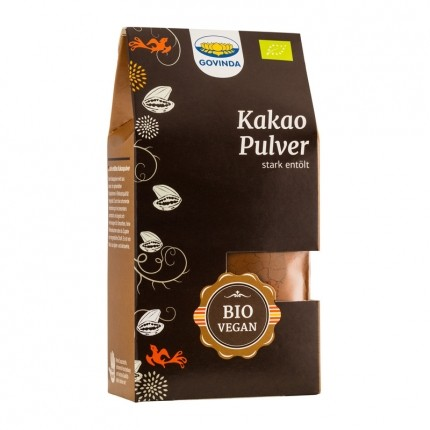Govinda, Poudre de cacao brute bio, lot de 3