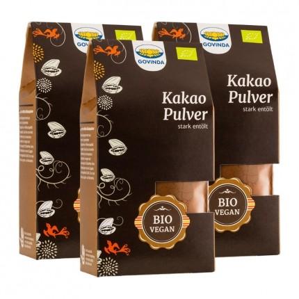 3 x Govinda Rohes Kakaopulver Bio