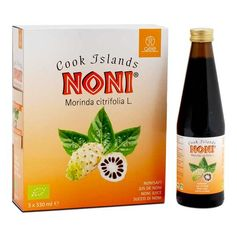 GSE, Cook Islands Noni bio, lot de 3, jus