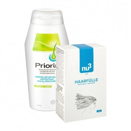 Hårkit: Priorin Shampoo og nu3 fyldigere hår