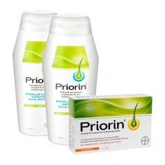 Hårplejesæt: Priorin, Kapsler og 2 x Priorin Shampoo