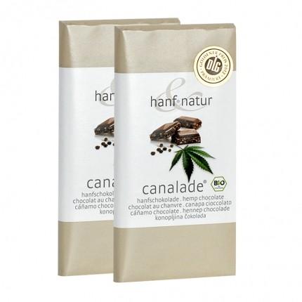 hanf & natur Canalade Bio-Vollmilchschokolade mit Hanfsamen Doppelpack