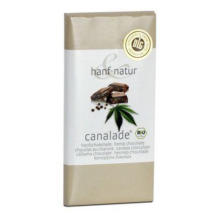 hanf & natur Canalade Bio-Vollmilchschokolade mit Hanfsamen