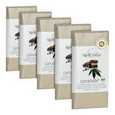 5 x hanf & natur Canalade Bio-Vollmilchschokolade mit Hanf