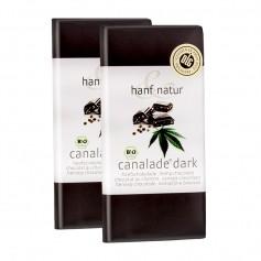 hanf & natur Canalade dark Bio Zartbitterschokolade mit Hanfsamen Doppelpack