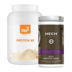 Hech Rich Protein Shake Schokolade, Pulver + nu3 Protein 90 Vanilla, Pulver
