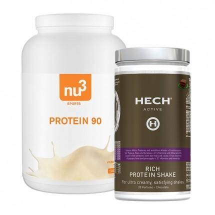 HECH, Shake protéiné, chocolat + nu3, Protéine 90, vanille