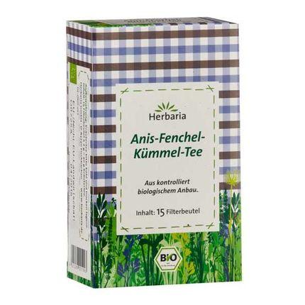 Herbaria Anis-Fenchel-Kümmel Tee, Filterbeutel Doppelpack