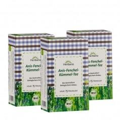 3 x Herbaria Anis-Fenchel-Kümmel Tee, Filterbeutel