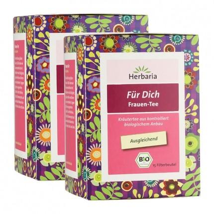 Herbaria Bio Für Dich Frauen-Tee (2 x 15 Beutel)