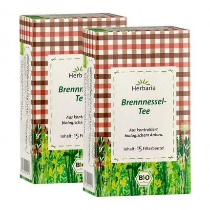 2 x Herbaria økologisk brennesle-te, filterpose