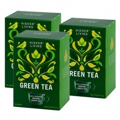 3 x Higher Living Green Tea