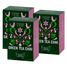 3x Higher Living Green Tea Chai