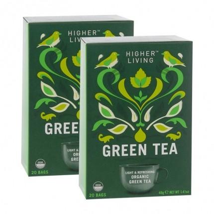 Higher Living Grüner Tee Doppelpack