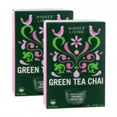 Higher Living Grüner Chai Tee Doppelpack