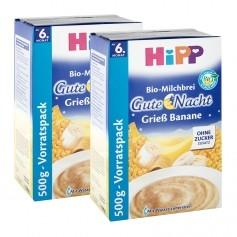 2 x HiPP Bio-Milchbrei Gute-Nacht Grieß Banane