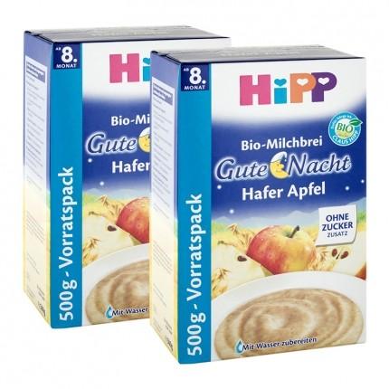 2 x HiPP Bio-Milchbrei Gute Nacht Hafer Apfel